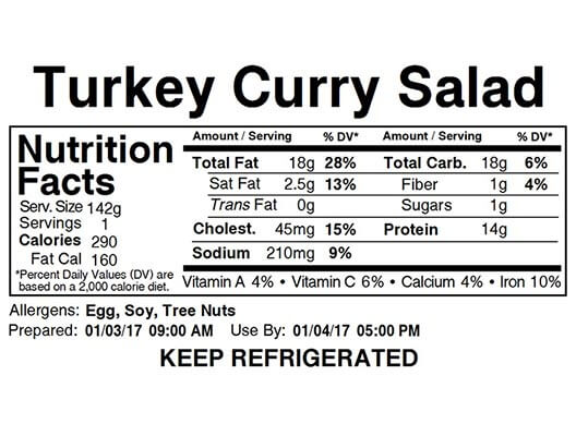 bms food image label