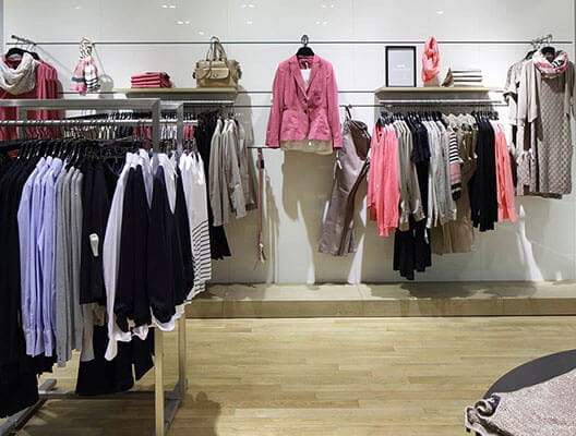 Clothing Displayed on Racks
