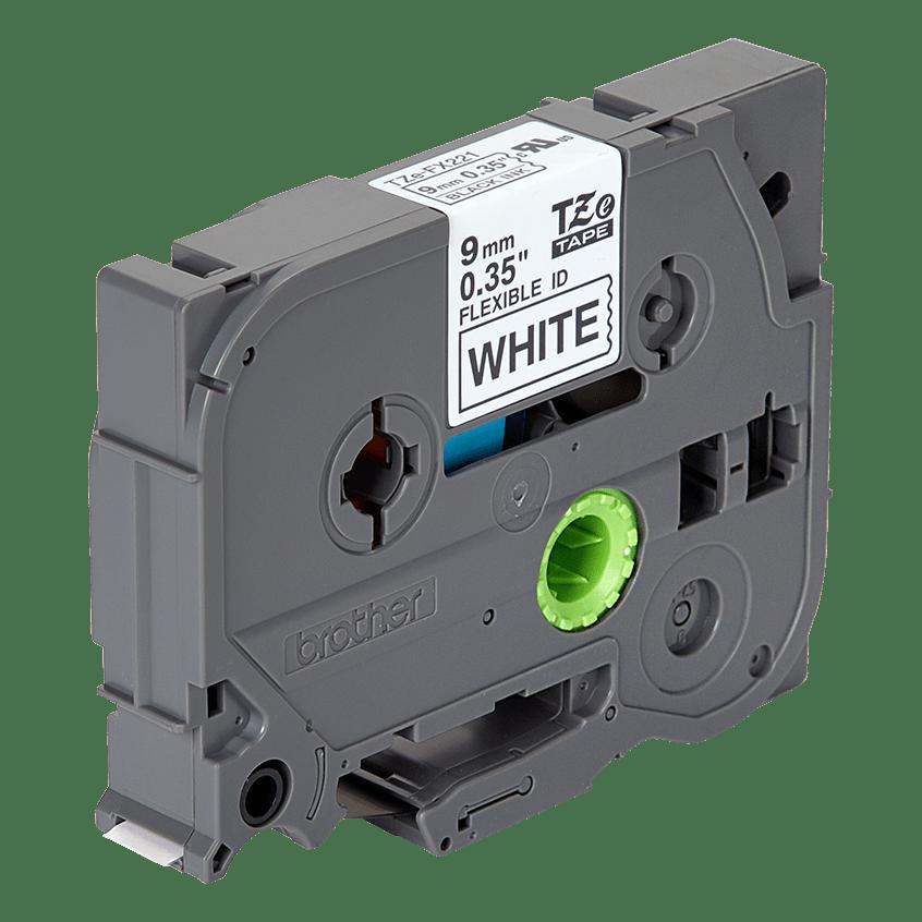 Compatible Brother TZ FX221 Tze FX221 Black on White Cable Flexible Label Tape