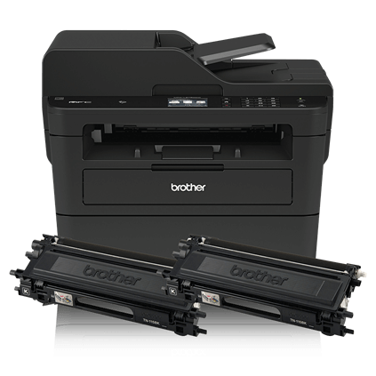 Up to Two Years of Printing Included MFCL2750DWXL Extended Print Wireless Connectivity Brother Compact Monochrome Laser All-in-One Multi-function Printer 2.7-Inch Color Touchscreen