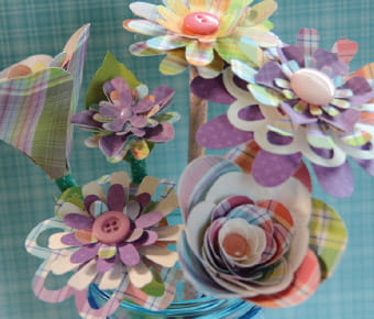 mixedmedia-flowerbouquet