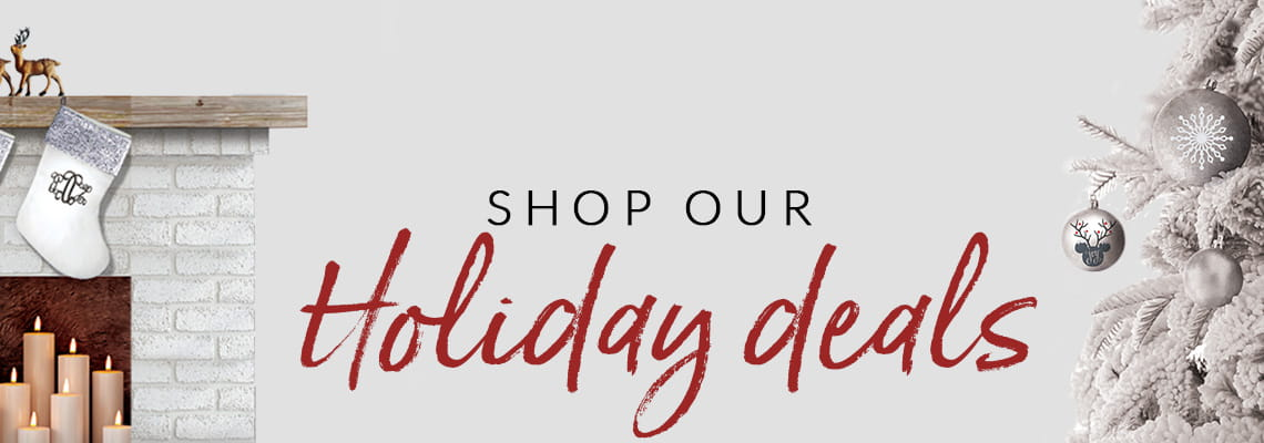holiday deals web page banner