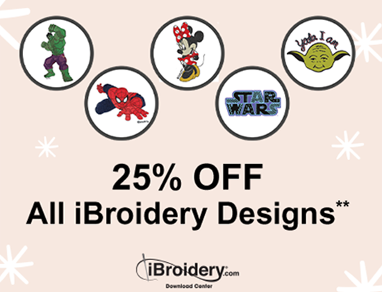 25% Off all iBroidery Designs