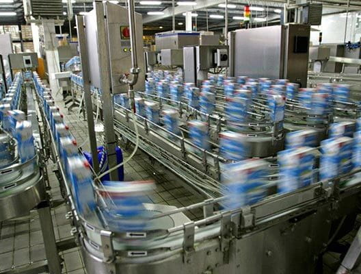 Canning line in action