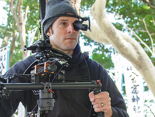 Camera operator using Brother AiRScouter