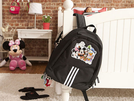 Black Backpack With Disney Embroidery Design