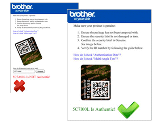 Security Labeling Ink And Toner Brother
