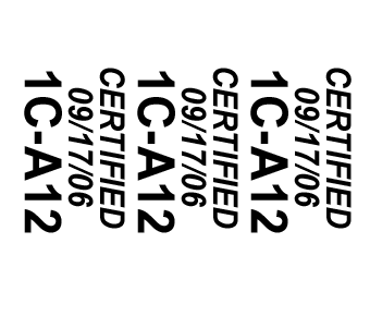 Cable wrap certified labels