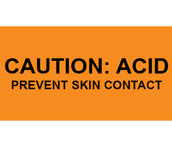 Caution Acid Label