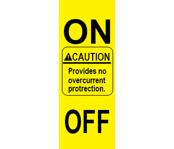 Caution no overcurrent label