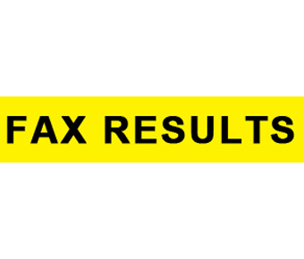 Fax results label