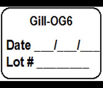 Gill OG6 label