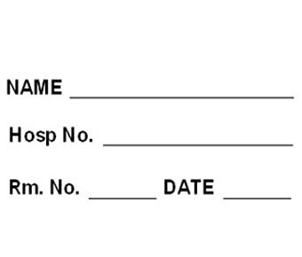 Hospital room label
