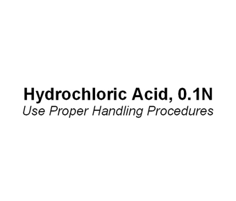 Hydrochloric Acid Label