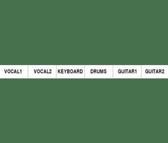 Mixer panel label