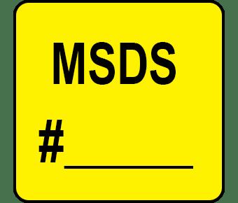 MSDS# label