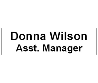 Name tag label
