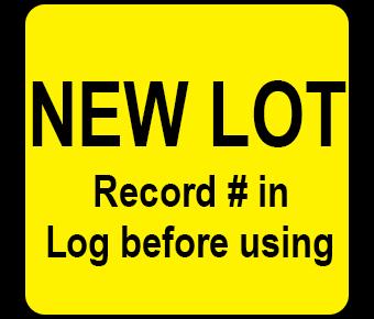 New lot label