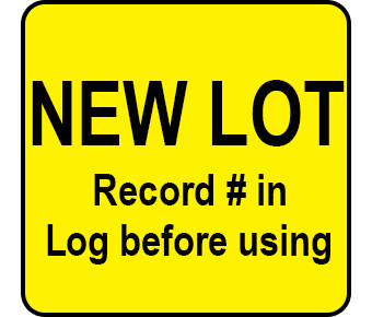 New lot label
