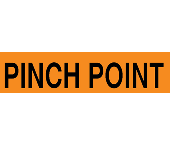 Pinch point label