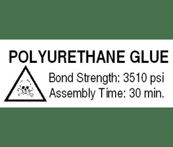 Polyurethane Glue Label