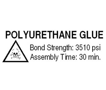 Polyurethane Glue Label