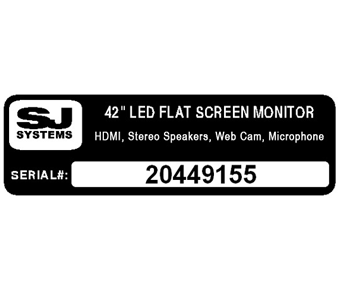 Serial number label with logo