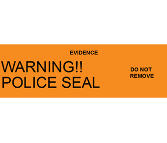 Warning police seal label