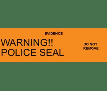 Warning police seal label