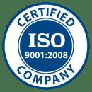 ISO 9001:2008 Certified Company logo