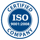 ISO 9001:2008 Certified Company logo