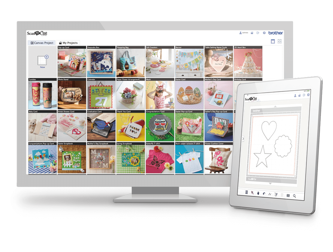 CanvasWorkspace software displayed on desktop monitor and tablet