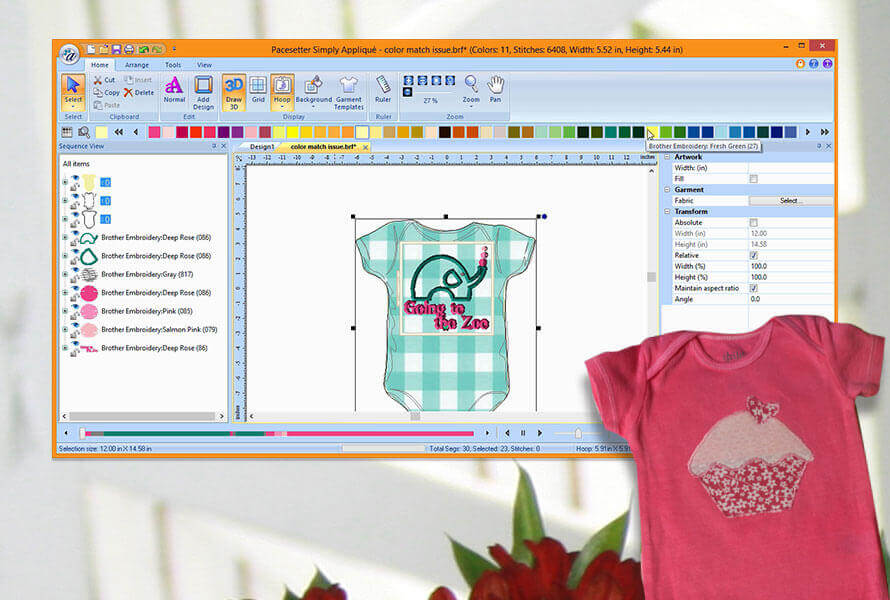 Simply Applique Embroidery Lettering Software Brother