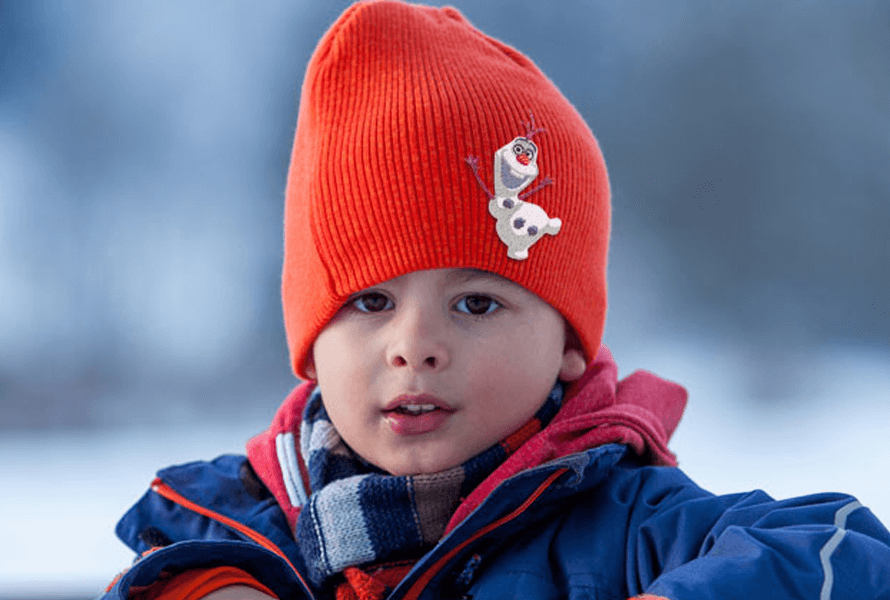 Disney Olaf from Frozen embroidery on knit cap