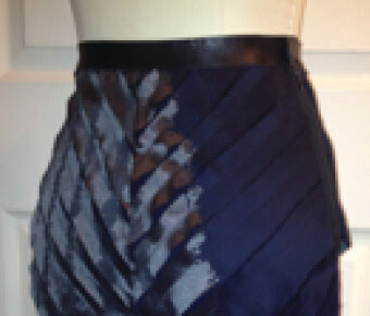 Feathered skirt on mannequin
