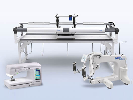 THE Dream Fabric Frame shown with other compatible Brother machines