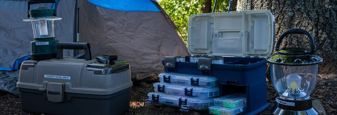 organize camping gear
