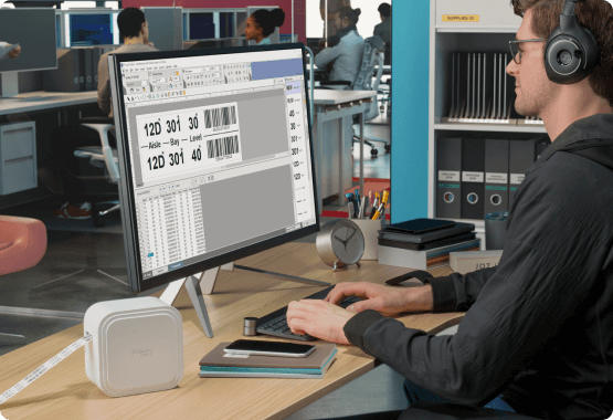 P-touch Cube XP features with applications