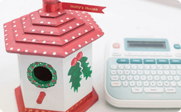 Holiday candy cane bird house