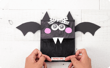 Halloween bat treat bag