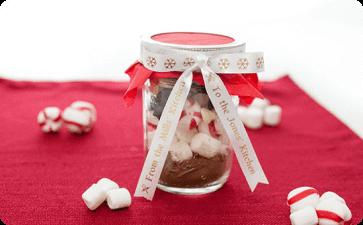 Peppermint hot chocolate jar