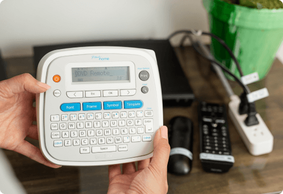 P-touch Home and cable organization