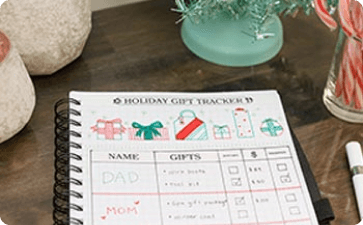 Holiday gift tracker