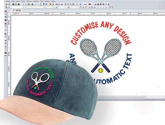 stitch patterns cap