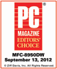PC Magazine Editors' Choice Award - MFC-8950DW