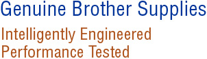 Genuine Brother Supplies.  Intelligently Engineered Performance Tested.
