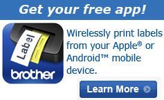 Wirelessly print labels from your Apple or Android mobile device.