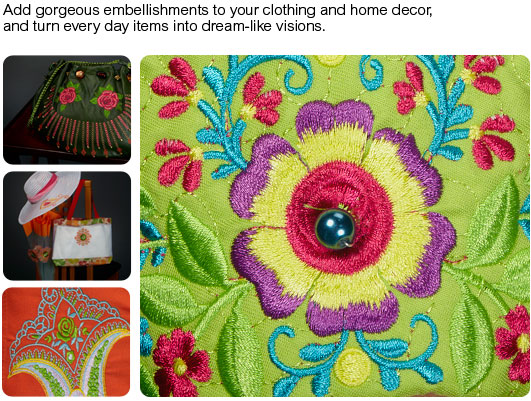 Add gorgeous embellishments to your clothing and home decor, and turn everyday items into dream-like visions