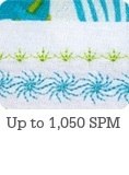 Up to 1,050 Stitches Per Minute
