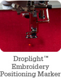 Droplight Embroidery Positioning Marker